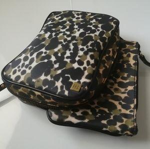 Hudson + Bleecker makeup storage bag set cheetah